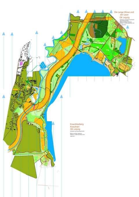 Orientierungslaufkarte Cospudener See im Maßstab 1:20000