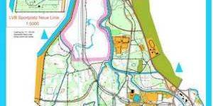 Orientierungslaufkarte Connewitzer Holz Leipzig mit Maßstab 1:15000