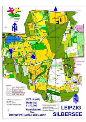 Orientierungslaufkarte Silbersee Leipzig