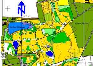 Orientierungslaufkarte Silbersee Leipzig mit Maßstab 1:5000